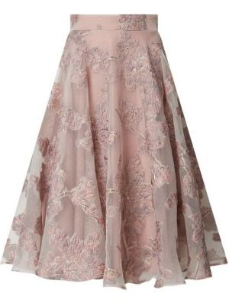 Różowa spódnica rozkloszowana Paradi