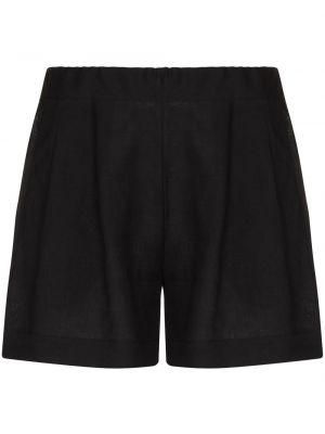 Льняные черные шорты Asceno