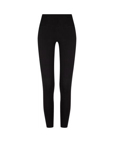 Черные тренировочные зауженные брюки на резинке с поясом Gsd