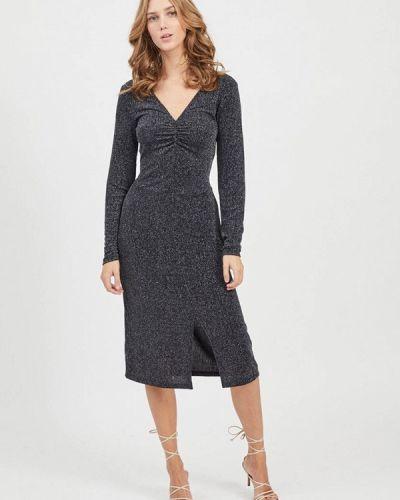 Серое платье-футляр Vila