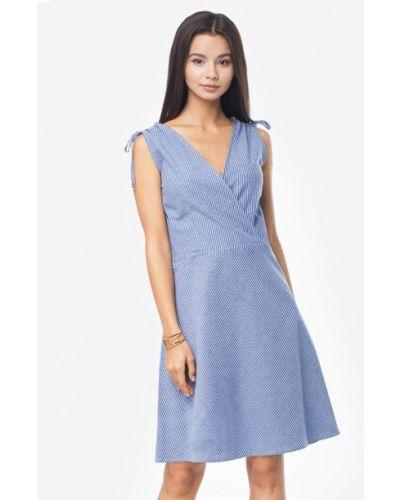 Платье миди синее Vilatte