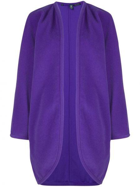 Фиолетовый асимметричный топ винтажный Emanuel Ungaro Pre-owned