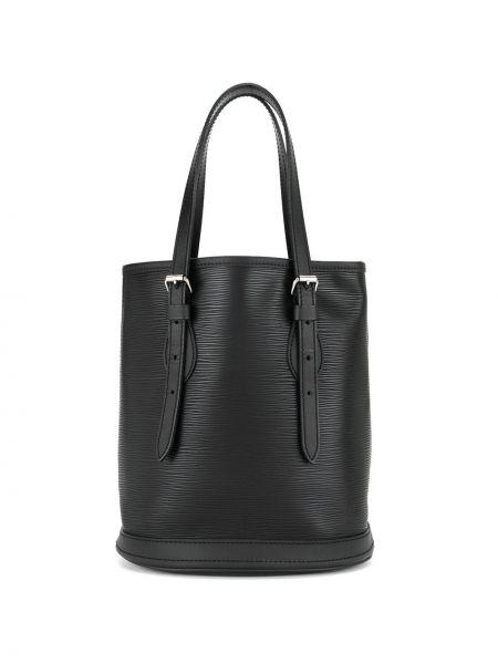 Skórzana torebka na ramię czarna Louis Vuitton Pre-owned