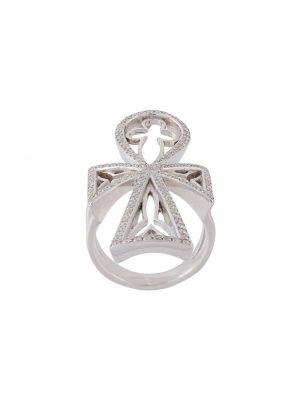 Золотистое кольцо золотое с бриллиантом Loree Rodkin