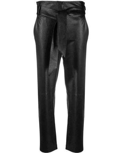 Черные с завышенной талией брюки из вискозы D.exterior