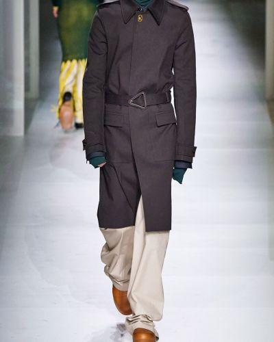 Płaszcz z paskiem bawełniany klamry Bottega Veneta