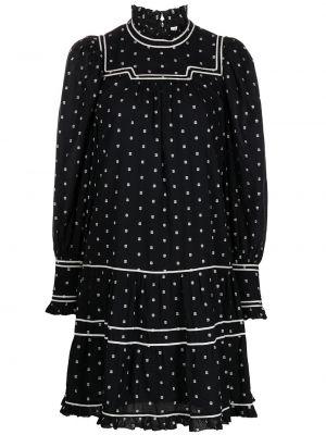 Платье в горошек - черное Ulla Johnson