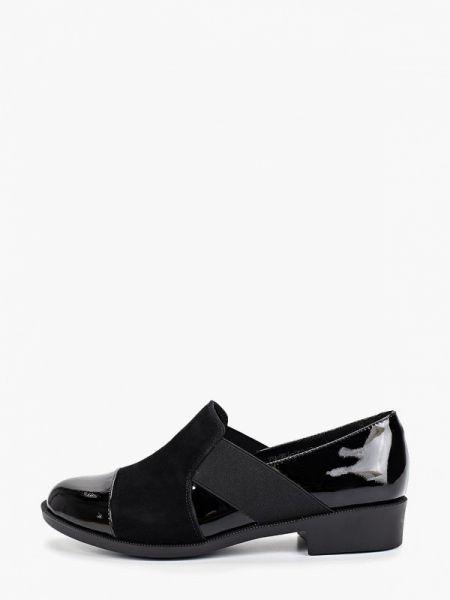 Туфли на каблуке черные кожаные Thomas Munz