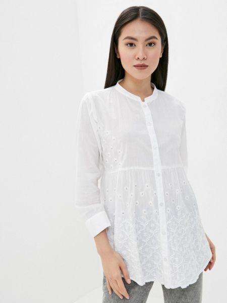 Белая блузка с длинным рукавом Venera