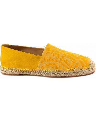 Espadryle - żółte Fendi