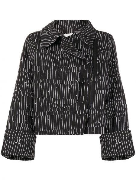 Хлопковый черный пиджак с карманами Henrik Vibskov