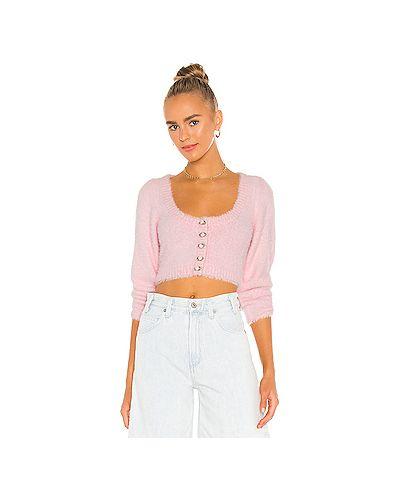 Акриловый пушистый розовый свитер For Love & Lemons