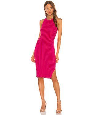 Облегающее платье в рубчик с разрезом Milly