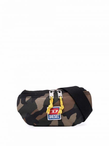 Zielony pasek z paskiem Diesel
