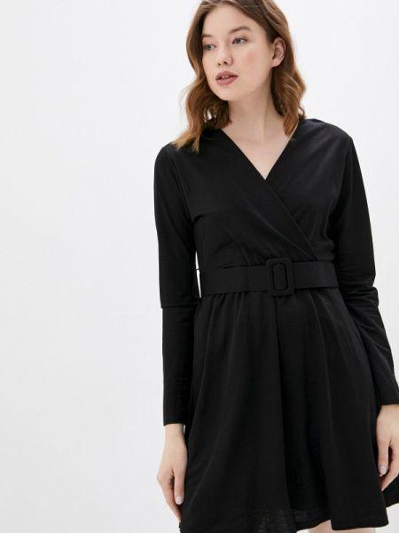 Однобортное черное платье Haily's