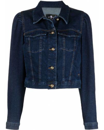Пуховая ватная синяя джинсовая куртка 7 For All Mankind