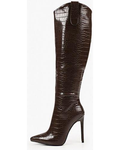 Коричневые кожаные сапоги Marco Bonne