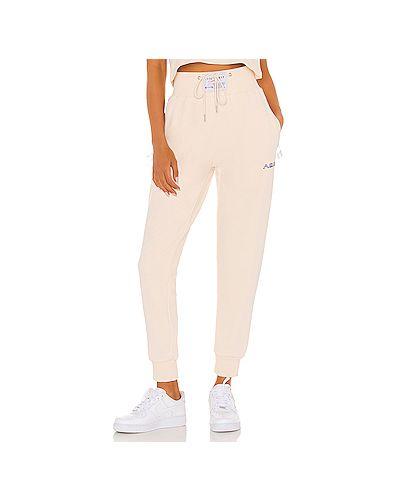 Пуховые деловые брюки на резинке с завязками с поясом Adam Selman Sport