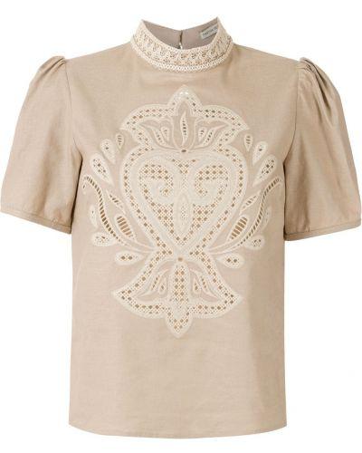 Блузка с воротником с короткими рукавами из вискозы Martha Medeiros