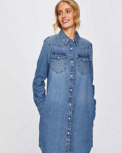 Джинсовое платье мини с карманами Wrangler