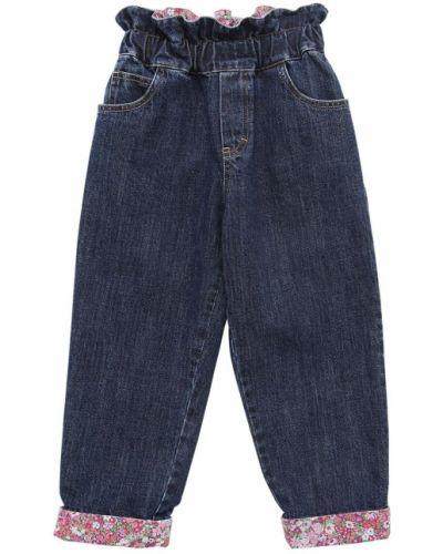 Niebieski jeansy wysoki wzrost z kieszeniami Philosophy Di Lorenzo Serafini