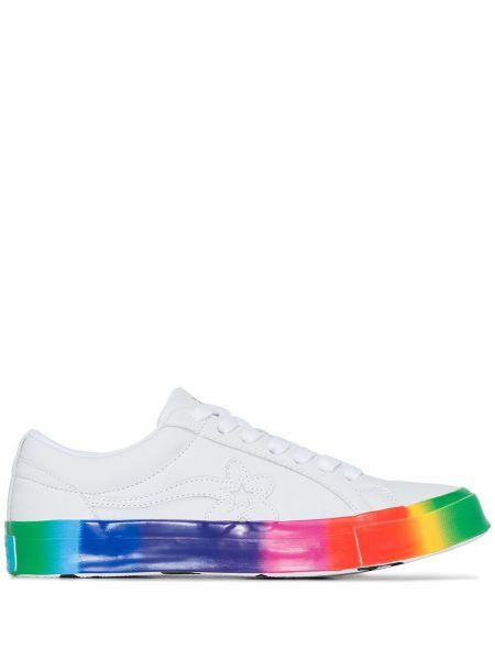 Biały golf skórzany koronkowy Converse