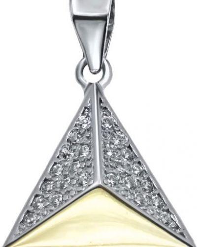 Серебряная подвеска с камнями золотой Silver Wings