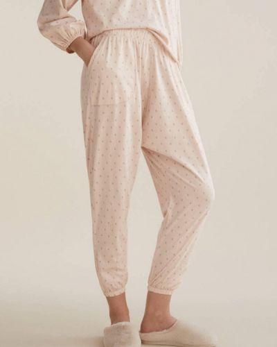 Домашние розовые брюки Oysho