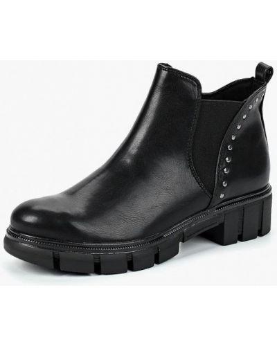 Кожаные ботинки осенние на каблуке Tamaris