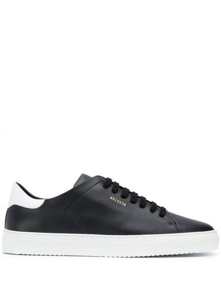 Ażurowy skórzany czarny sneakersy zasznurować Axel Arigato