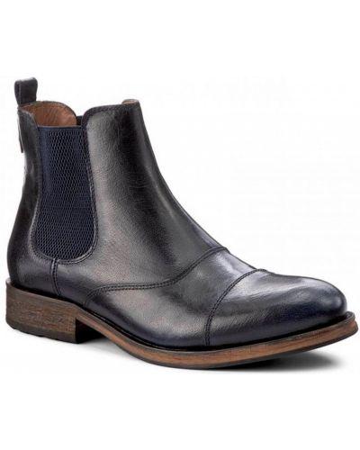 Кожаные ботинки челси - синие Tommy Hilfiger