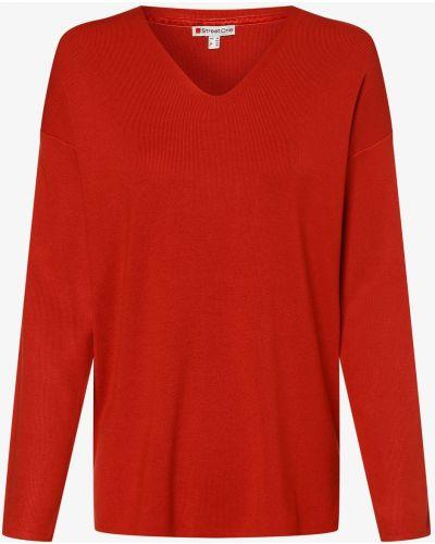Czerwony sweter z wiskozy Street One