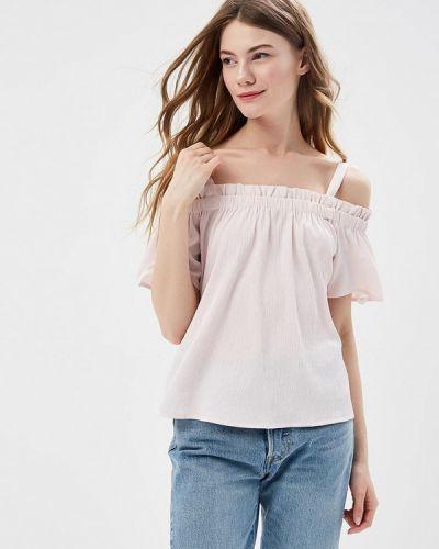 Розовая блузка с открытыми плечами Noisy May