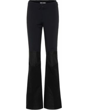 Черные расклешенные свободные брюки Ienki Ienki