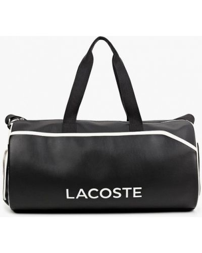 Черная спортивная сумка Lacoste
