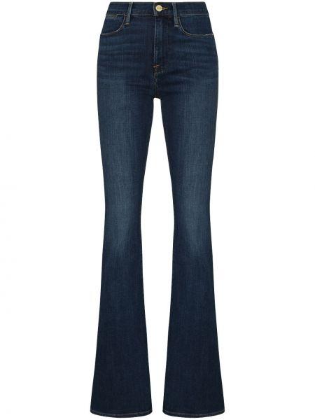 Расклешенные хлопковые синие расклешенные джинсы Frame