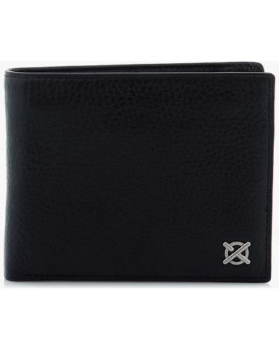 Черный кожаный кошелек Luxon