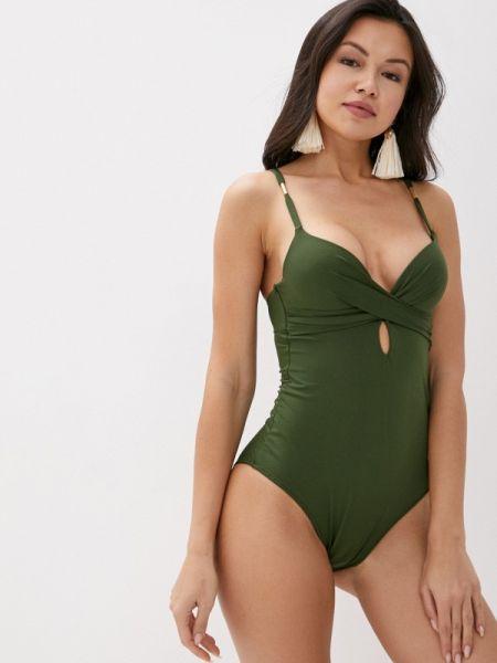 Слитный купальник зеленый хаки Women'secret