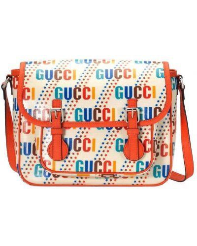 Biała torebka z klamrą Gucci Kids