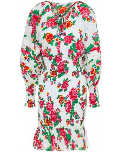 Biała sukienka mini bawełniana z printem Rhode