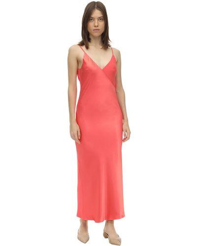 Satynowa sukienka midi Lesyanebo
