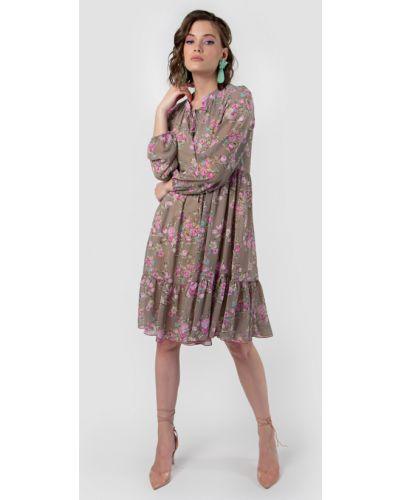 Повседневное шифоновое с рукавами платье Mariko
