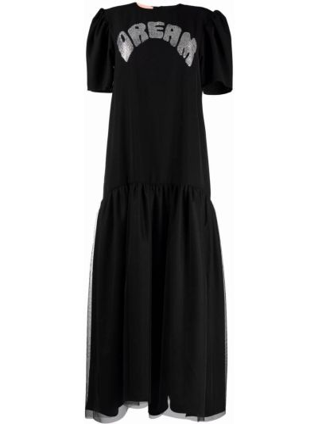 Czarna sukienka krótki rękaw Viktor & Rolf