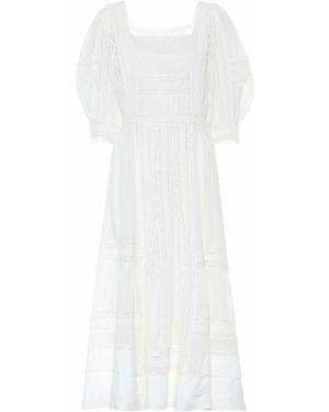 Летнее платье миди с кружевными рукавами Polo Ralph Lauren