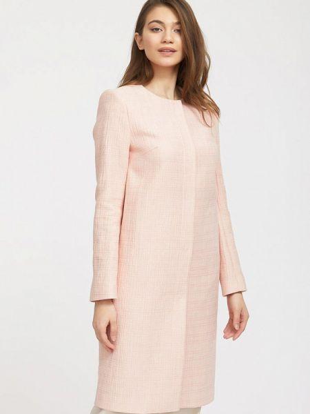 Розовое пальто с капюшоном Charuel