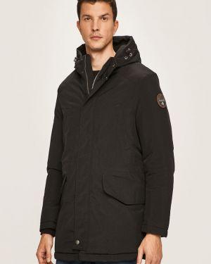 Утепленная куртка с капюшоном черная Napapijri