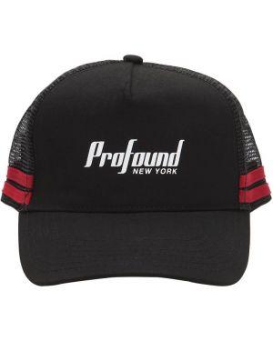 Czarna czapka w paski Profound Aesthetic