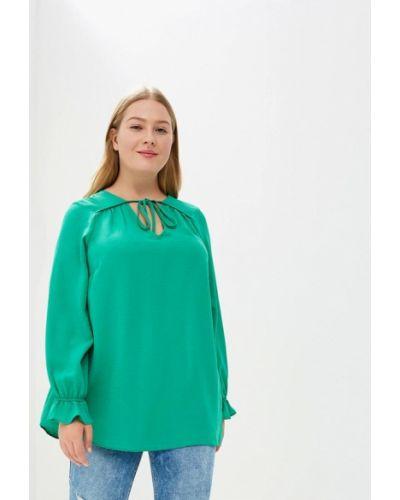Зеленая блузка осенняя Evans