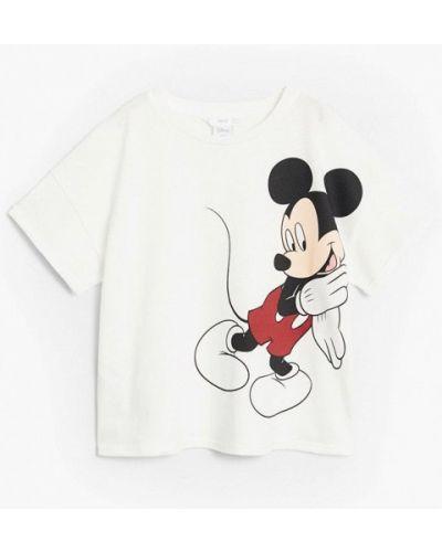Белая футболка с короткими рукавами Mango Kids