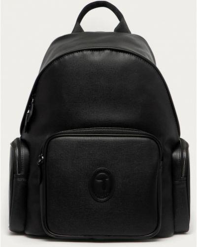 Czarny plecak bawełniany Trussardi Jeans